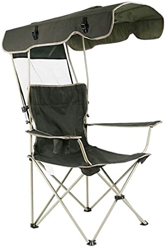 FYRMMD Sillas de Camping con protección Solar para Exteriores, Multifuncional, portátil, para Pesca, Playa, sillón con sombrilla, Plegable de Aluminio (sillas de Camping)