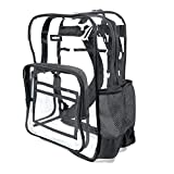 Heavy Duty Clear Backpack V6 Durable Transparent See Through Bag