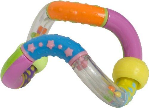 Bieco Baby Rassel Greifling mit beweglichen Elementen | Ringrassel | Beissring | Babyspielzeug Junge und Mädchen | Greifring | Babyrassel | Motorikspielzeug | Sensorik Spielzeug für Babys