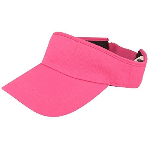 Balke Sonnenschild Visor mit Klettverschluss für Damen und Herren - pink