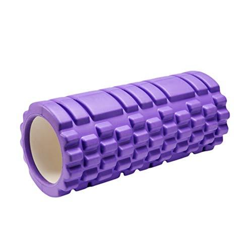 Kuncg Schaum Massagerolle für Einfache Effektive Selbstmassage, für Yoga, Pilates, Fitness und als Faszien Rolle (Lila,33 * 14 cm)