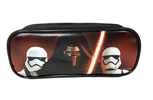 "Disney Star Wars ""The Force Awaken"" Kylos and Storm Trooper Black Pencil Case Pouch Bag"