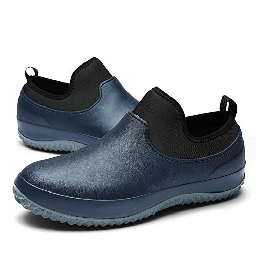 Zller2587 Chef Shoes Non-Slip Waterproof,Professional Safety Non-Slip öLbestäNdige Work Boots,Unisex Adult Chef Shoes 40 Blau