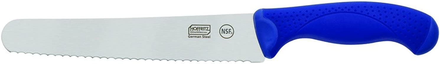 Hoffritz Commercial Top Rated German Steel Knife Bread Knife 8-Inch Navy