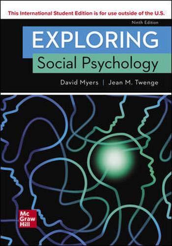 Myers, D: ISE Exploring Social Psychology