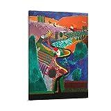 EMIP David Hockney Mulholland Drive Wandkunst-Poster Scroll