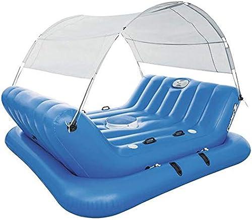 FGKING Aufblasbarer Mehrzweckpool für 4 Personen, extra Größe Schwimmliege für Pool oder See, Summer Lounge Toy