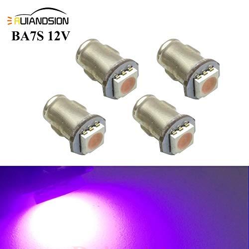 Ruiandsion 4x BA7S LED Éclairage intérieur pour auto 12V 5050 1SMD 30lm, rose
