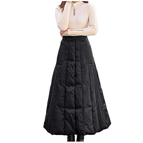 Dasongff Damen Outdoor-Rock Helix Skirt Women Thermorock Winter Expandable Daunenrock Dicke Warme Kleine Daunendecken Slim Fit Hohe Taille Schlanken Rock Langer Weiblicher Wickelrock (A, XXL)
