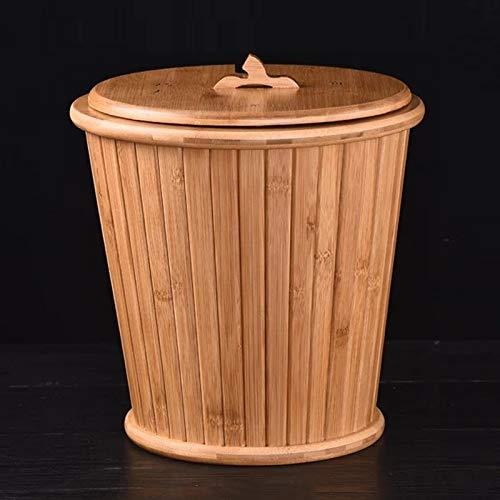Hmg Bamboo Drainage Tea Slag Bucket Kung Fu Accesorios for té con Tapa, Tamaño: 27x28cm