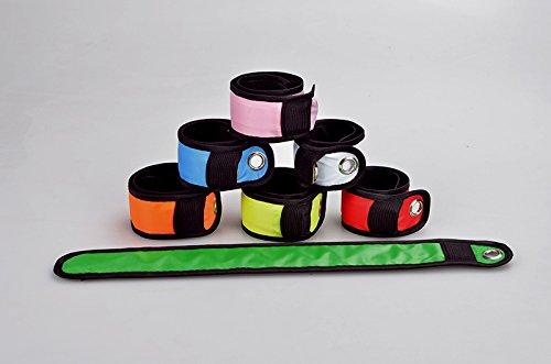 BPFY® – Pulsera de LED magnética de color verde con 3 modos de iluminación adaptable a todo tipo de brazos con pilas incluidas, deportivo, seguridad, discoteca,
