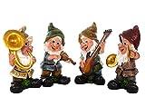 Birendy Gartenzwerg Kapelle Große handbemalte Süße Figuren, Zwerg, Gartendeko Gartenwichtel (Ganze-Kapelle-Set)
