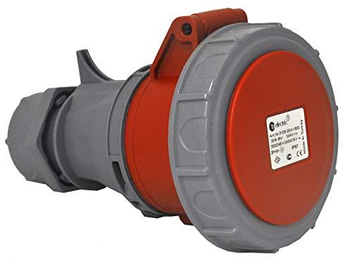 TPelectric - CEE 5x32A IP67 Stecker Kupplung Wandsteckdose Wandstecker Einbaustecker Einbausteckdose (TP 3108-Serie) (Kupplung)