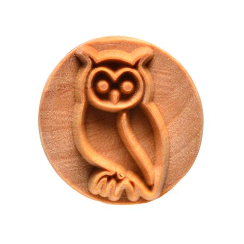 MKM Pottery Tools'Stamps 4 Clay' Large Round Decorative Stamp for Clay (Scl-053 Owl)
