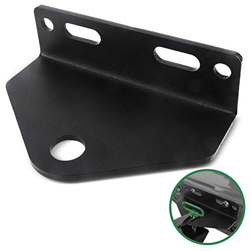Mission Automotive Heavy Duty Universal Zero Turn Mower Trailer Hitch - 3/16'' Thick and Rugged Steel - 3/4'' Trailer Hitch Mount -