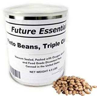 1 Can of Future Essentials Pinto Beans, Dried, # 10 Can, 5 lbs Net Weight