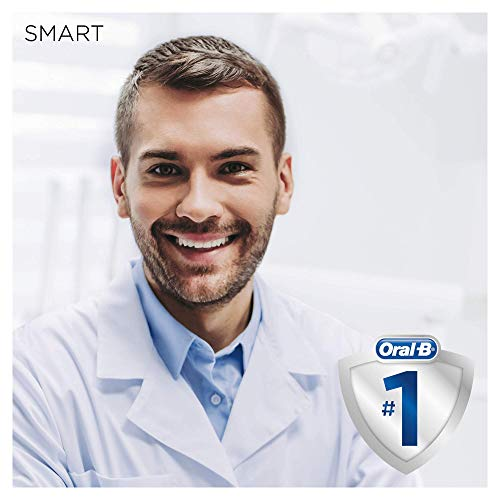 Oral-B SmartSeries 6000 CrossAction Electric Toothbrush, 1 White App Connected Handle, 5 Cleaning Modes