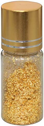KINNO 24K Gold Leaf Thin Flakes for Skin Care 50 mg Pure Gold for Food Decoration Coffee Cake product image