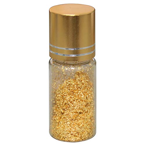 KINNO 24K Gold Leaf Thin Flakes for Skin Care, 50 mg Pure Gold for Food Decoration, Coffee, Cake Baking, Drinking