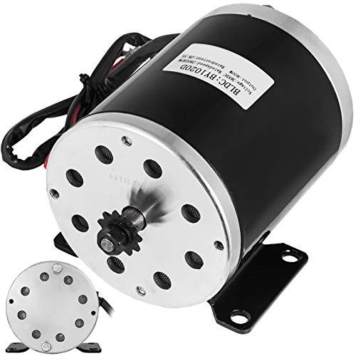 Mophorn Mini Motor Eléctrico de Alta Velocidad de Baja Velocidad y Bajo Nivel de Ruido 800W / 36V+