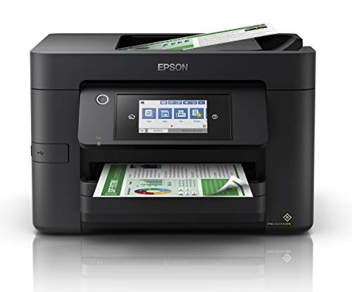 Epson WorkForce WF-4820 All-in-One Wireless Colour Printer with Scanner, Copier, Fax, Ethernet, Wi-Fi Direct and ADF , Black