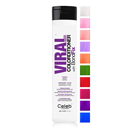 Celeb Luxury Viral Colorditioner, Professional Semi-Permanent Hair Color Depositing Conditioner, Purple