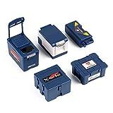 INJORA RC Herramienta Set 5pcs Mini Caja de Pesca Tórax Médico Estuche de Herramientas RC Accesorios para 1:10 RC Crawler Traxxas TRX4 TRX6 Axial SCX10 90046 (Azul)