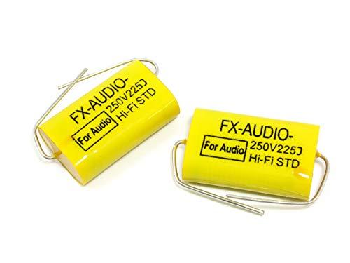 FX-AUDIO- 限定生産製品専用オーディオ用ポリエステルフィルムコンデンサ 250V 2.2μF 225J 2個セット ネッ...