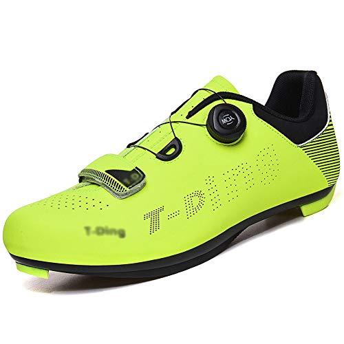 Fahrrad Fahrrad Herren Damen Fahrrad Reitschuhe - Kompatibel Mit SPD & ARC - Perfekt Für Indoor Spin Road Racing Indoor Heimtrainer,Grün,41