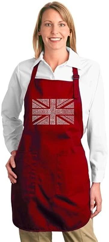 Full Length Dual Pocket Apron Union Jack Red