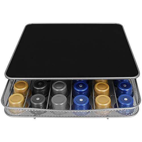 TW24 Kapselhalter mit Ständer für Kaffeemaschine Schublade für 30-60 Kapseln Kapselspender Kapselsständer Kaffeekapselhalter