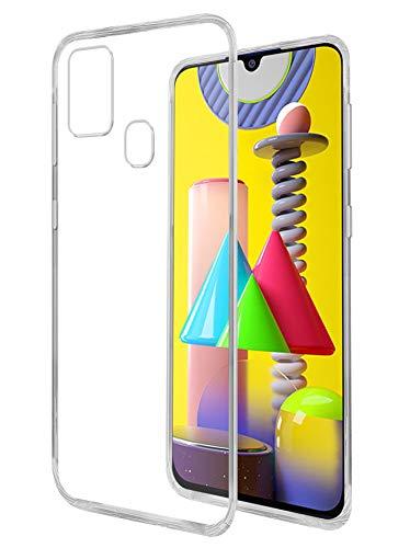 Amazon Brand – Solimo Back Case for Samsung Galaxy M31 Prime / M31 / F41 (Flexible Transparent)