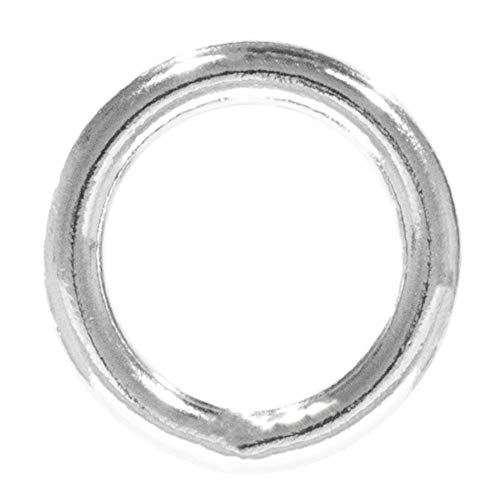 Craft County Welded Steel O-Rings – for DIY Projects, Decoration and Art (3/4 Inch Diameter X 10-Pack)