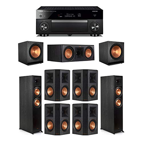 Find Bargain Klipsch7.2 Ebony System - 2 RP-6000F,1 RP-600C,4 RP-502S,2 SPL-150,1 RX-A1080 Receive...