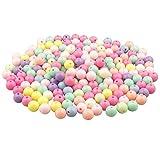 Yixuan LLC Colorato Acrilico Perle 200pcs 12mm Perline Artigianali Perline di Plastica per la Creazione di Gioielli, Oggettistica per la Casa, Braccialetto per Bambini, Collana, Ciondolo
