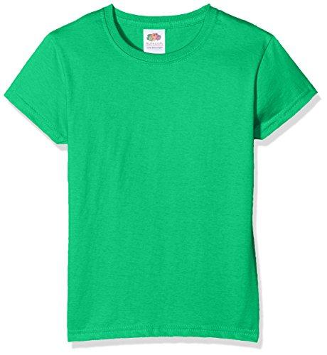 Fruit of the Loom SS079B, Camiseta Para Niños, Verde (Kelly Green), 5/6 Años