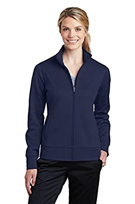 Sport-Tek Womens Sport-Wick Fleece Full-Zip Jacket (LST241) -NAVY -S