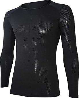 おたふく手袋BTデュアル3Dファーストレイヤー ロングスリーブクルーネックシャツL JW-522 ブラック(長袖)