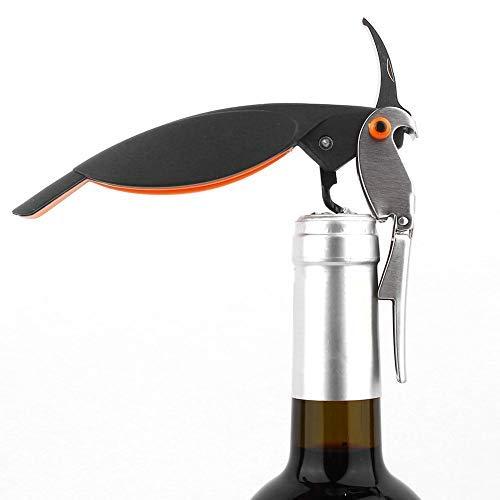 Apribottiglie Cavatappi a Parrot Forma Cavatappi Apribottiglie per Vino di Design Multifunzione Camerieri Chiave per Vino Apribottiglie e Tagliapasta