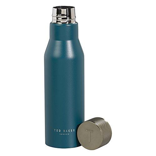 Ted Baker Insulated Water Bottle, Leak Proof, Black Onyx
