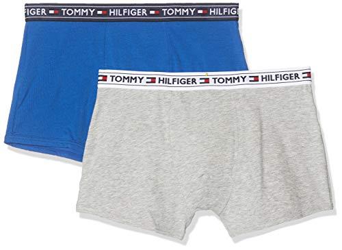 Tommy Hilfiger Jungen 2P Trunk Badehose, Mehrfarbig (Multi 071), (Herstellergröße:8-10) (2er Pack)
