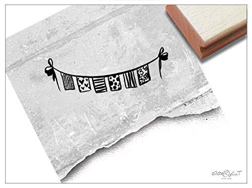 Stempel Motivstempel Wimpelkette Girlande - Bildstempel für Karten Einladungen Basteln Festdeko Scrapbook Geschenk Geburtstag - zAcheR-fineT