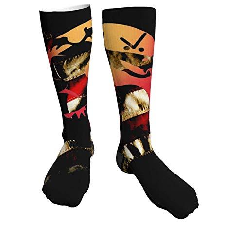 JIANYU Trog-Dor KOM-Bat Calcetines Deportivos Unisex de tacón Negro Grueso Medias hasta la Rodilla de 50 cm