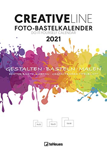 Foto-Bastelkalender weiß 2021 - Kreativ-Kalender - DIY-Kalender - Kalender-zum-basteln - 21x29,7 - datiert
