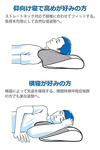 tobestトゥーベスト低反発枕4つの寝姿勢をサポートニューロンピロー安眠横向き仰向けうつ伏せマルチに対応首こり頭痛肩こり負担軽減洗える専用カバー付き