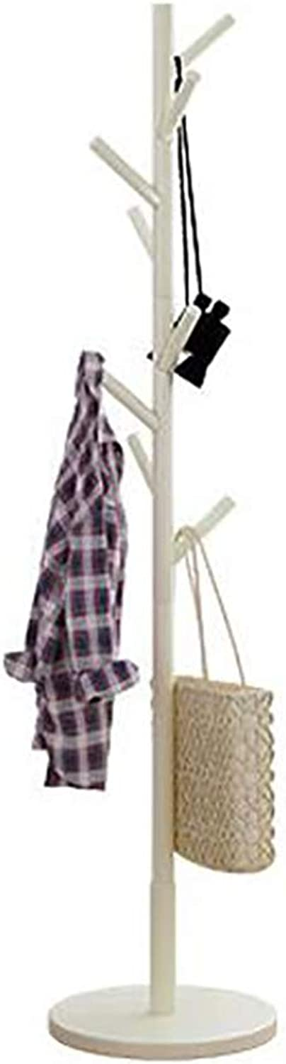 Solid Wood Floor Coat Rack Household Multifunctional Removable Rack Simple Bedroom Clothes Rack H68.89 Inches