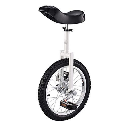 GAOYUY Monociclo, Monociclo Freestyle Professionale Unisex 20 Pollici Pedali Antiscivolo Sport All'aperto Fitness Esercizio Salute (Color : White, Size : 16 Inches)