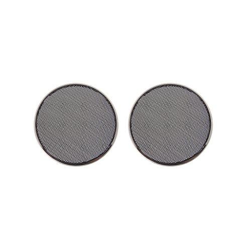 Simplelife 1/2/3/4/5/6.5 Inch Speaker Grills Cover Case Ronde Grill Beschermende Luidspreker decoratieve cirkel Accessoires-ABS, Zwart