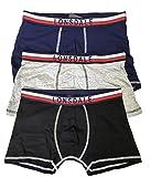 Calzoncillos tipo bóxer para hombre, de algodón con diseño original para hombre, paquete de 3 o 6 unidades 21405 Multicolor 3 Boxer XL