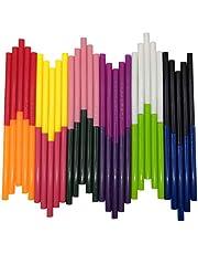 Gekleurde Hot Melt Lijm Sticks, VARACL Kids Mini Gekleurde Hot Glue Gun Sticks voor Kunstambachten, DIY, Home Algemene Reparatie, Vakantie Kerstcadeau Ambachten, 12 kleuren, 60 stuks, Diameter 7 mm, Lengte 10 cm